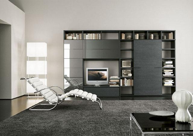 Мебель в современной гостиной должна создавать ощущение легкости