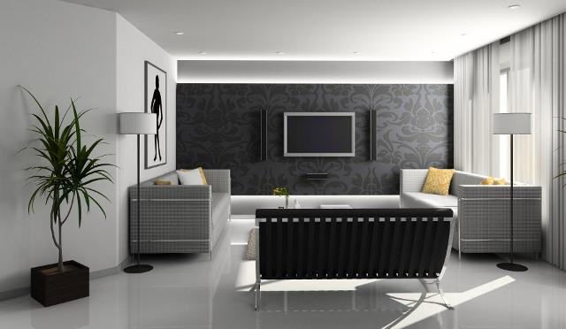 Дизайн-проект интерьера гостиной в стиле хай-тек