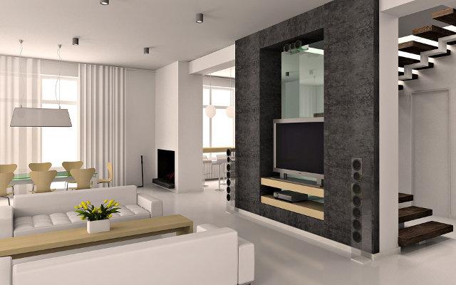 Дизайн гостиной в современном стиле в загородном доме