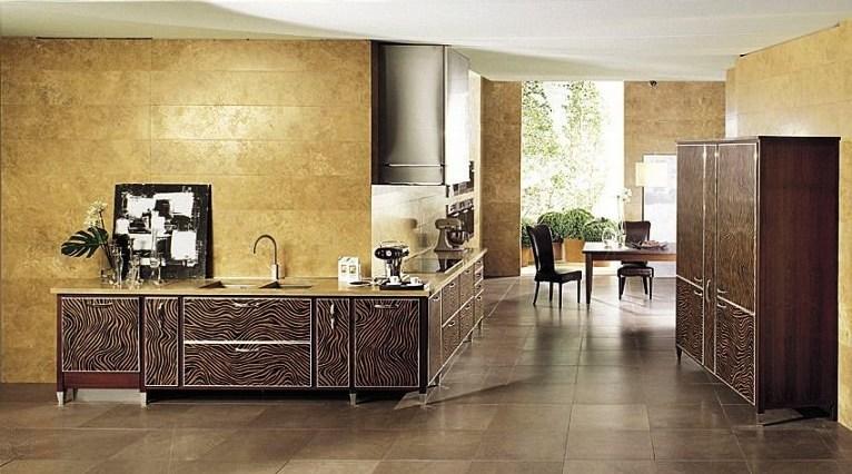 Дизайн кухни-столовой в африканском стиле в загородном доме