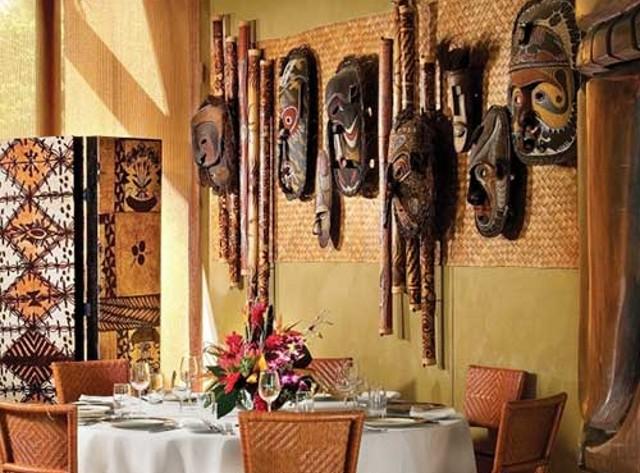Маски в интерьере кухни в африканском стиле