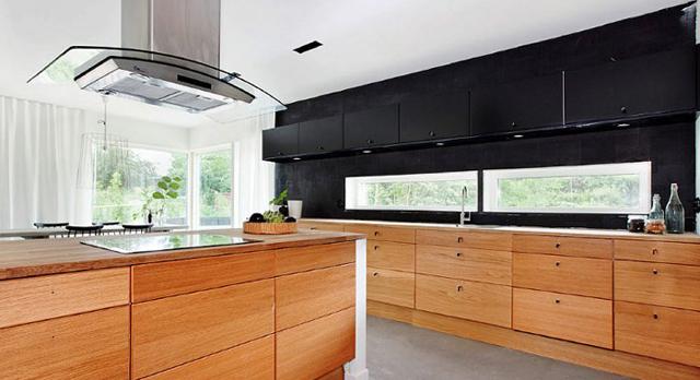 Современный интерьер кухни в японском стиле