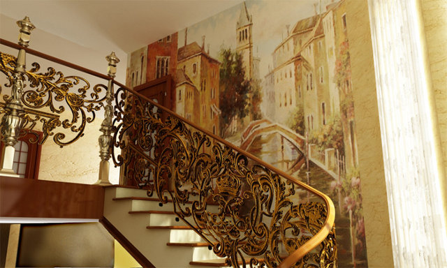 Дизайн прихожей с фреской