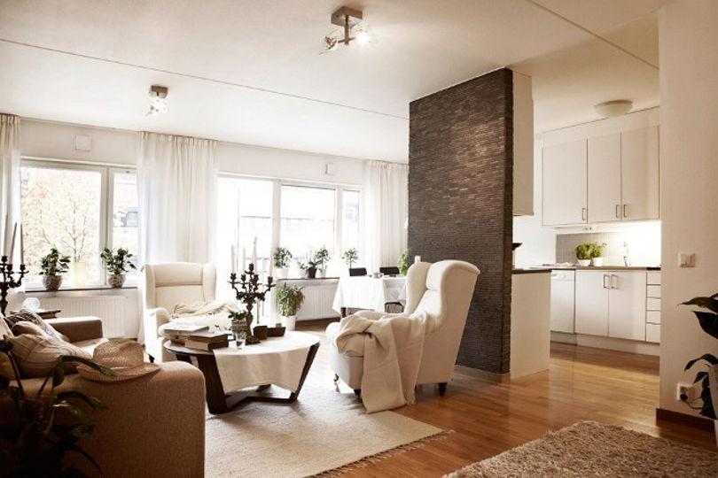 Сочетание светлых и темных тонов в интерьере квартиры