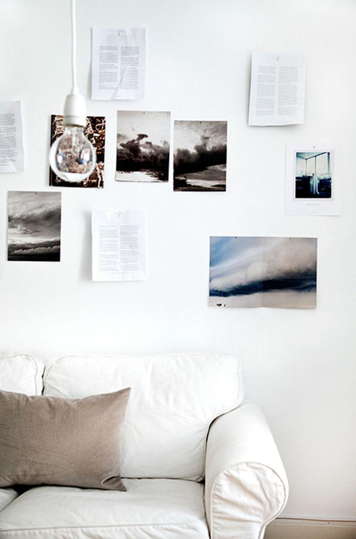 Оригинальный декор стен в скандинавской гостиной