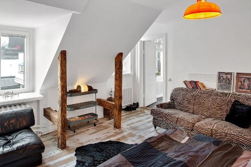 Спальня оформлена с элементами стиля кантри