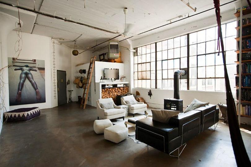 Индустриальный лофт в Бруклине