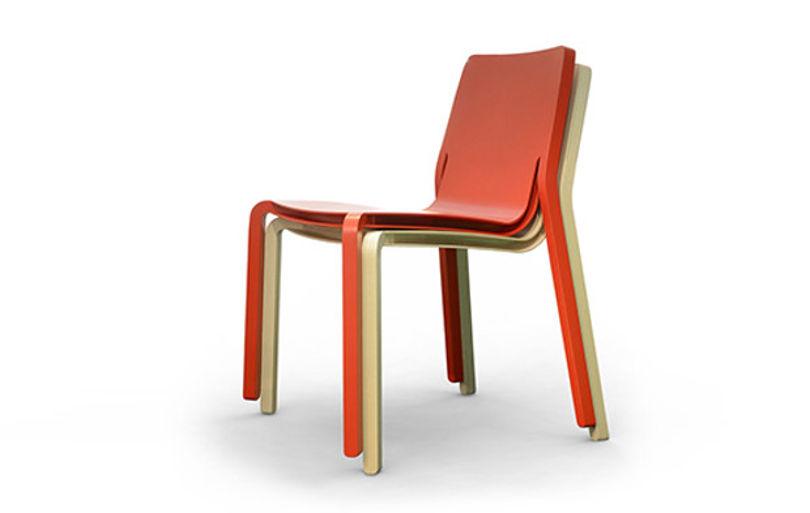 Штабелируемые стулья Layer от Mitab