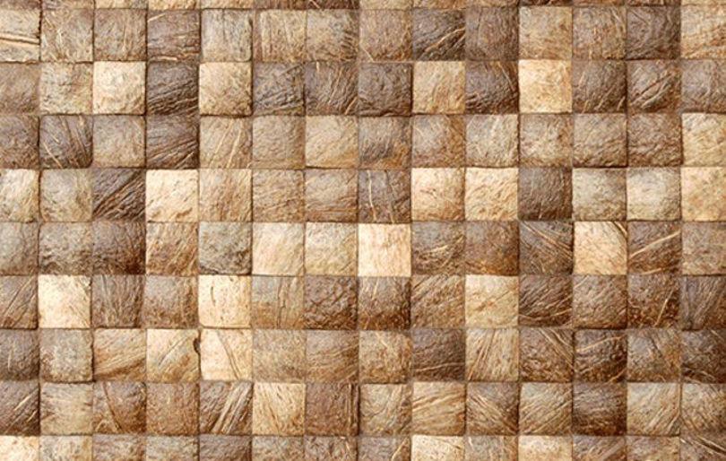 Настенное покрытие из кокосовой скорлупы от Iboma