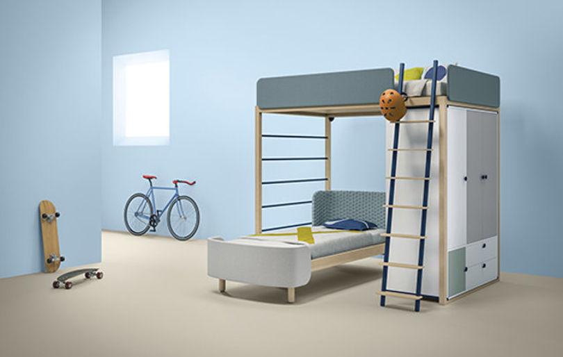 Двухъярусная кровать Mezzanine от Dot and Cross