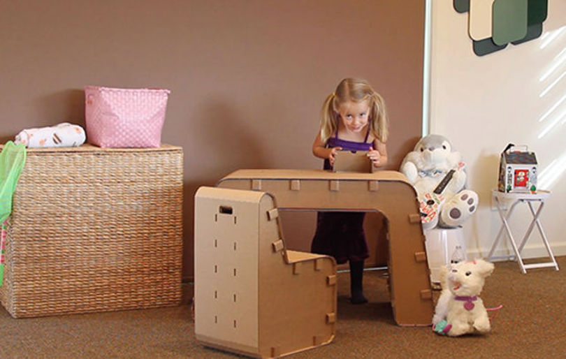 Картонная мебель для детской комнаты