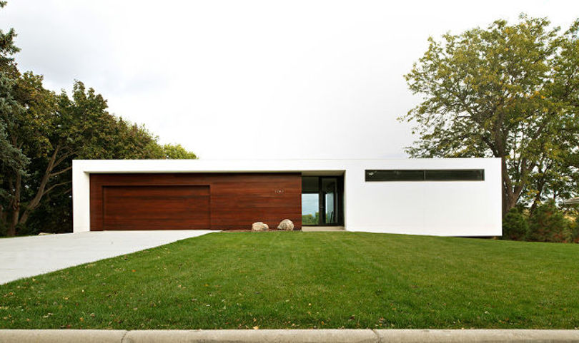 Дизайн одноэтажного дома с плоской крыше в стиле минимализм