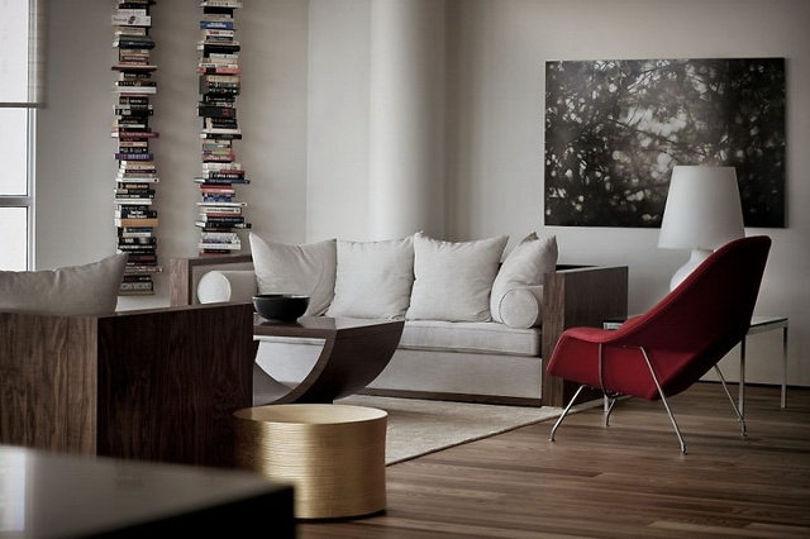 Интерьер пентхауса выдержанный в стиле минимализм