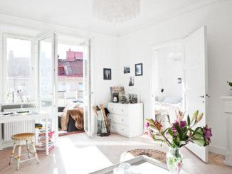 Двухкомнатная квартира в Стокгольме площадью 36 кв.м.