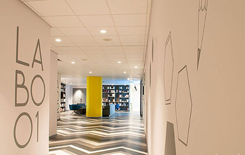 Дизайн коворкинга Le Campus в Париже