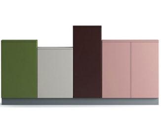 Цветные шкафы для офиса Row of